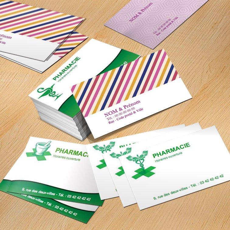 Grandes cartes de visite familiales format 127 x 80 mm - Imprimerie